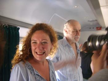 Los escritores Cristina Fallarás y Guillermo Orsi