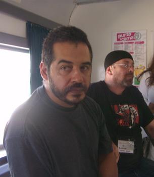 Los escritores Mario Mendoza y Carlos Salem