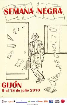 Cartel de la 23 edición de la Semana Negra de Gijón