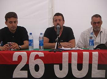 Guillermo Nova, Adrián Álvarez y Fabián Escalante