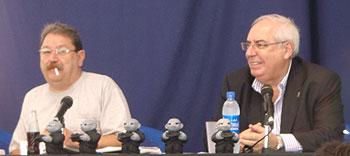Paco Ignacio Taibo II y Vicente Álvarez Areces