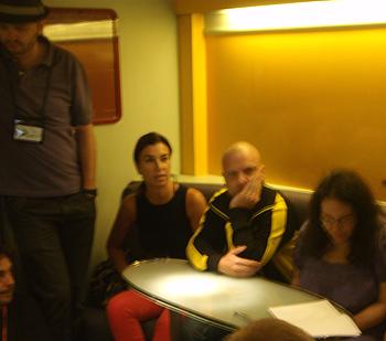 Javier Márquez Sánchez, Carmen Posadas, Diego Ameixeiras y Melinda Gebbie presentando sus motivaciones literarias