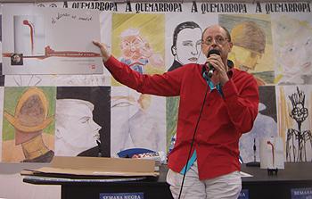 Fernando Marías durante la presentación de El silencio se mueve