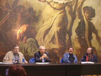 Alejandro Ortea, Vicente Álvarez Areces, Paco Ignacio Taibo II y Juan Cueto