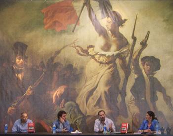 Rogelio Grajal, Carlos Quilez, Pablo Muñoz y Cruz Morcillo presentado Palabra de Vor
