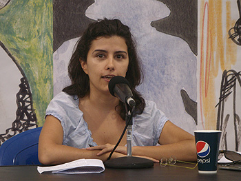 Olga Rodríguez en su conferencia sobre Egipto y la post revolución