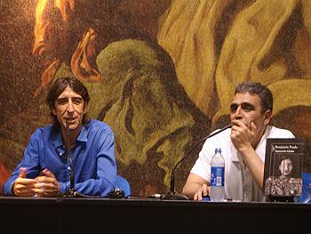 Benjamín Prado y Alejandro Gallo presentando Operación Gladio