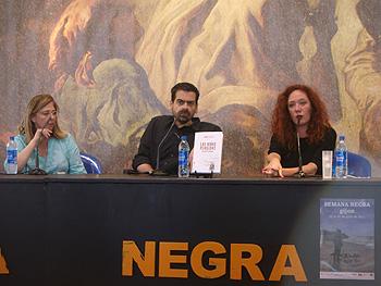Cristina Macía, Juan Ramón Biedma y Cristina Fallarás