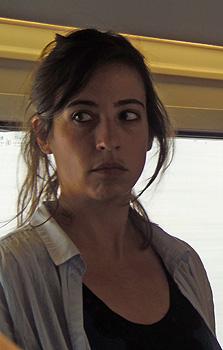 Lisa Díez en el tren negro