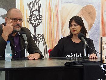 Juanmi Aguilera y Ana Colchero durante la presentación (Foto: Toni Gutiérrez)