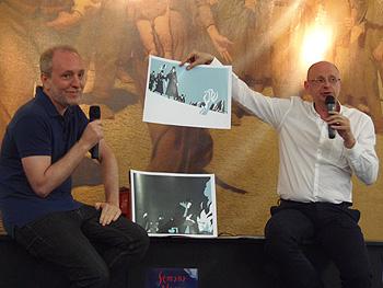 Javier Olivares y Fernando Marías presentado su libro (Foto: Toni Gutiérrez)