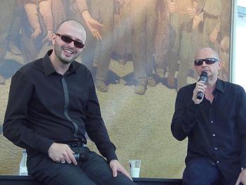 Javier Márquez Sánchez y Fernando Marías durante la presentación