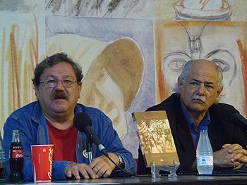 Paco Taibo y Paco Pérez-Arce durante la presentación