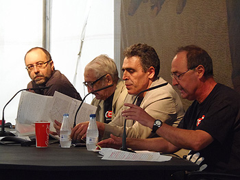Rubén Vega, Armando López Salinas, Alejandro Gallo y Benigno Delmiro (Foto: Angie Álvarez)