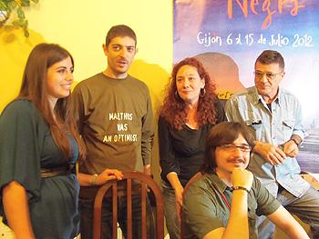 Los premiados Carmen Redón Pomar, Emilio Bueso, Cristina Fallarás, Claudio Cerdán y Guillermo Saccomanno