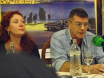 Cristina Fallarás y Guillermo Saccomanno en la rueda de prensa de los ganadores