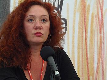 Cristina Fallarás presentando su libro
