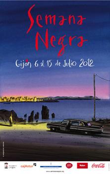 Cartel de la Semana Negra, realizado por Jacques de Loustal