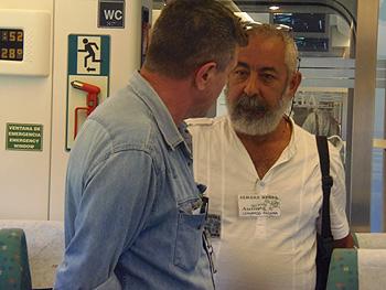 Guillermo Saccomanno y Leonardo Padura conversan en el Tren Negro