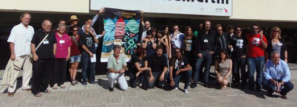 Los autores de la Semana Negra posan en Madrid. Foto: Toni Gutiérrez