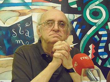 Petros Markaris durante la rueda de prensa en el Hotel Don Manuel