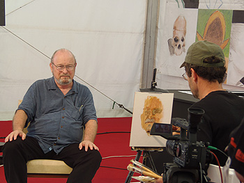 Joe Haldeman pintado y entrevistado por Félix de la Concha