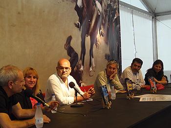 Ángel de la Calle, Susana Hernández, Alexis Ravelo, Luis Gutiérrez Maluenda, Víctor del Árbol y Carolina Solé