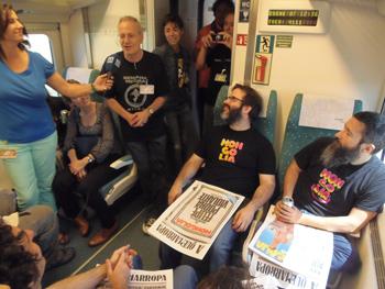 Rueda de prensa en el Tren Negro con Mongolia