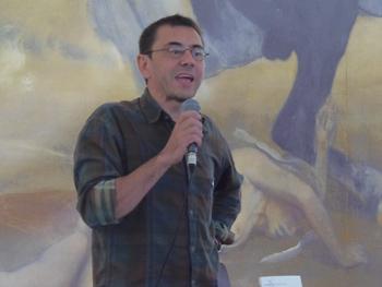 Juan Carlos Monedero presentando su libro. Foto: Toni Gutiérrez