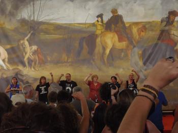 Las mujeres del carbón cantando el Santa Bárbara bendita