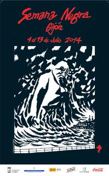 Cartel de la Semana Negra (ilustración de José Muñoz)