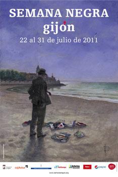 Cartel de la Semana Negra 2011 realizado por el dibujante Miguel Anxo Prado