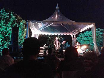 Chus Pedro durante el concierto en el Jardín Botánico. Foto Toni Gutiérrez
