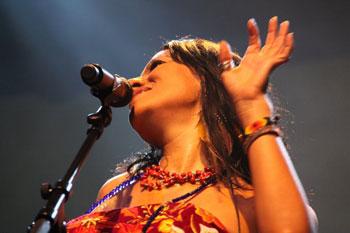 Lila Downs durante uno de sus conciertos