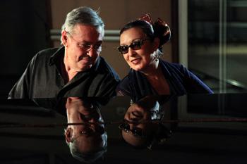 Martirio y José María Vitier presentando su disco El aire que te rodea (foto de archivo por cortesía del Teatro Español)