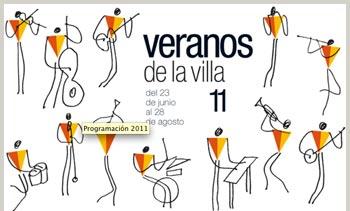 Cartel anunciador de Los veranos de la villa