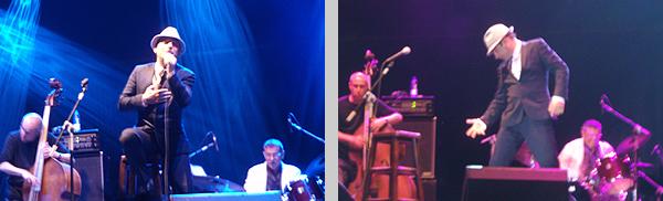 Dos instantáneas de Zenet durante el concierto de Gijón (Foto: Toni Gutiérrez)