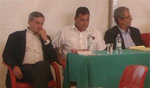 Willy Meyer, José Manuel Esquivel y Omar Mauri (Foto: Toni Gutiérrez)