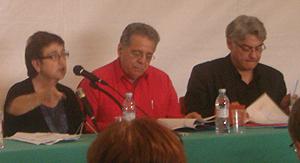 Maite Mola, Isaías Rodríguez y Obey Ament (Foto: Toni Gutiérrez)