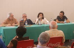 Jorge del Cura, José Manuel Valverde, Sandra Toral e Isaac Rosa (Foto: Toni Gutiérrez)