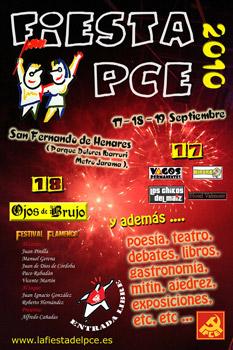 Cartel de la Fiesta PCE 2010