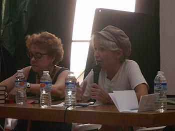 Sagrario Losada y Belén Gopegui presentan la novela Acceso no autorizado. Foto Toni Gutiérrez