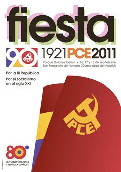Cartel de la Fiesta PCE 2011