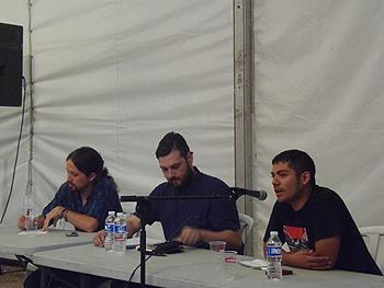 Pablo Iglesias, el Nega y Jefferson Cárdenas. (Foto: Toni Gutiérrez)