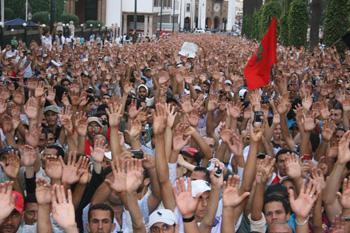 Primavera árabe en Marruecos. Manifestaciones del movimiento 20 de febrero