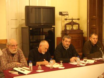 Los ponentes Francisco Prado Alberdi, Francisco Faraldo, José Luis Argüelles y Luis Pascual