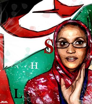 Dibujo de Aminetu Haidar realizado por Kalvellido