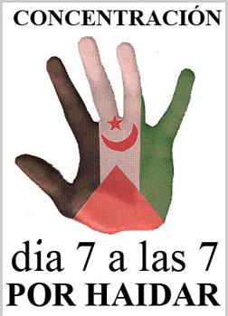 Cartel convocando la concentración de apoyo a Aminetu Haidar