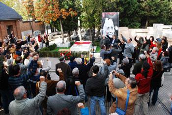 Cementerio Civil durante el homenaje (foto: Iván Pascual)