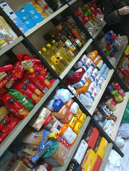 La Despensa Solidaria tras una recogida de alimentos y productos de primera necesidad. (Foto: RSP Centro - Arganzuela)
